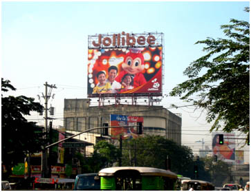 Jollibee top of the building billboards