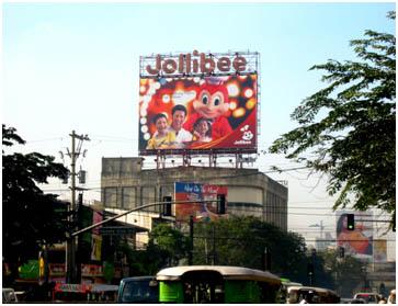 Jollibee top of the building billboards
