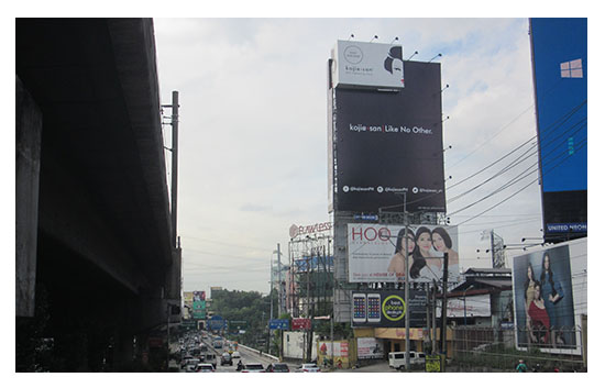 Billboard ads installation
